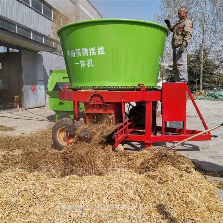 秸秆牧草自动粉碎机 圆盘式牧草捆粉草机