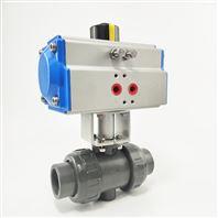 气动PVC/upvc塑料螺纹球阀Q611F-10S球阀